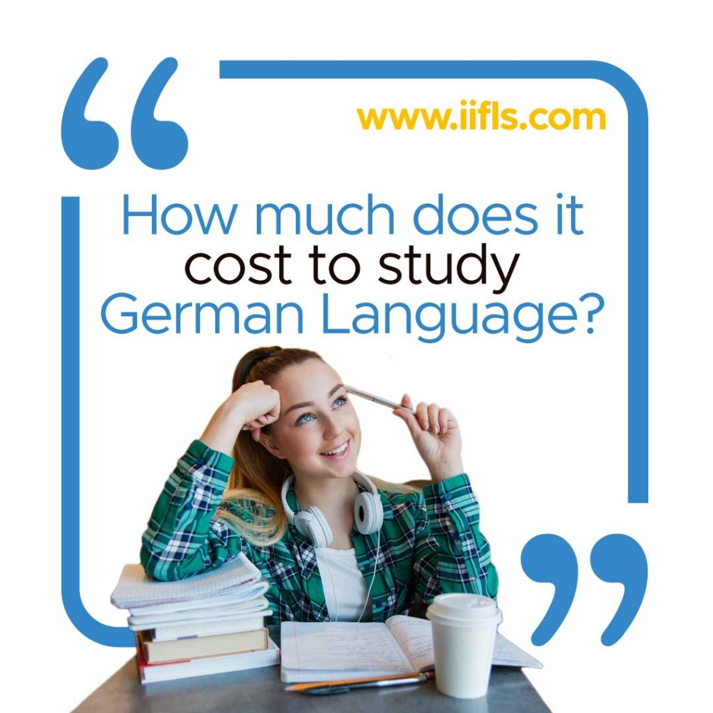 how much does it cost to study german language
