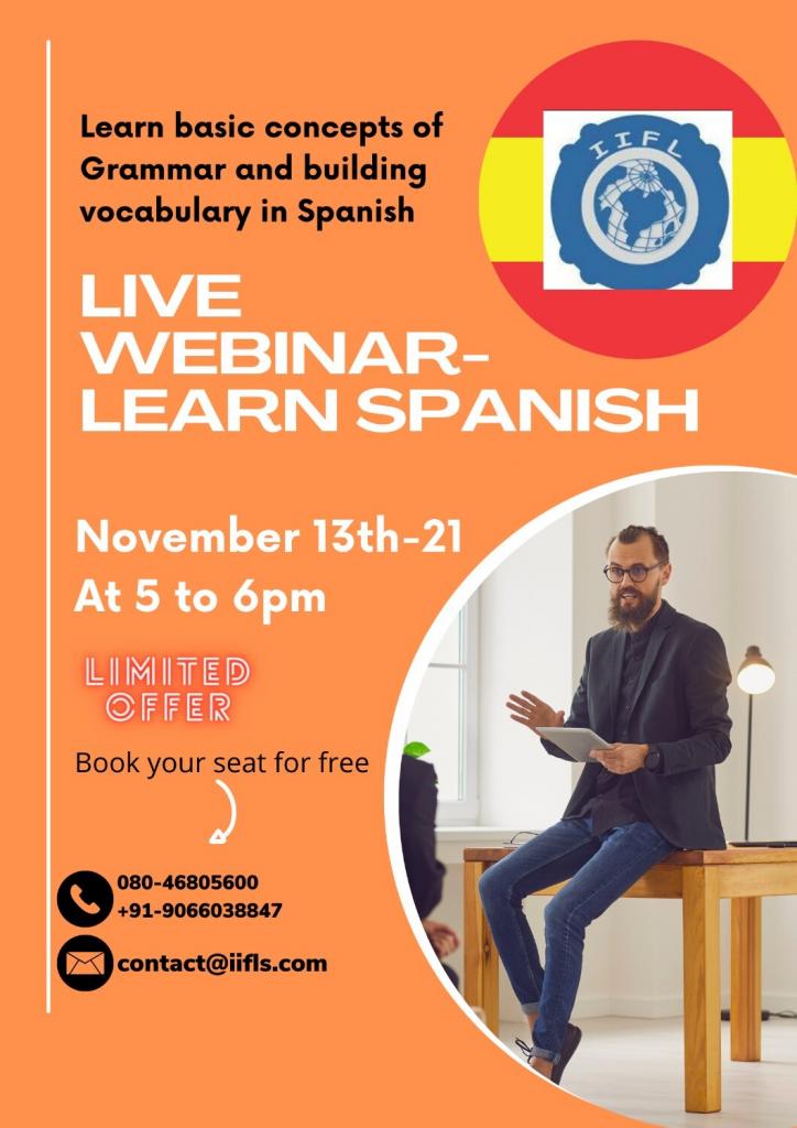 Live Webinar Learn Spanish